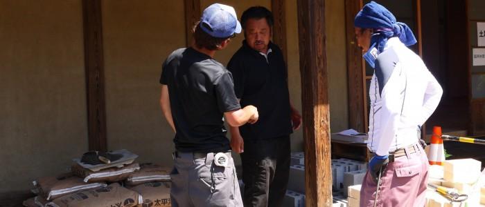 ピザ窯作りで職人技を披露①ー小室建設株式会社
