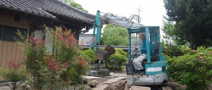 グリーンツーリズムに向けて 霞装園が庭作りをスタート